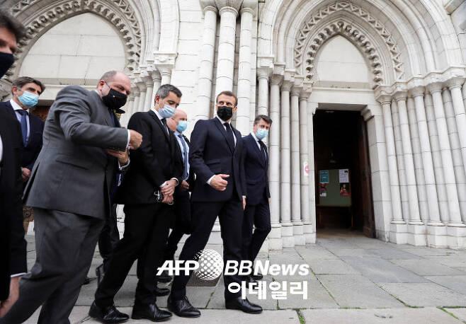 29일 흉기 테러가 발생한 프랑스 니스의 노트르담 대성당 (사진=AFPBB News)
