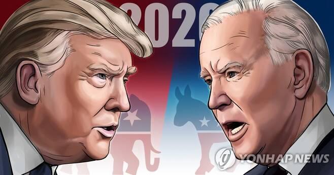 미국 대선 트럼프 vs 바이든 (PG)[김민아 제작] 일러스트