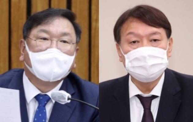 김태년 더불어민주당 원내대표 vs 윤석열 검찰총장 - 서울신문DB