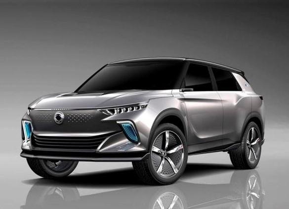 쌍용자동차가 2021년 출시하는 첫 전기차 E100(프로젝트명)의 콘셉트 이미지. /쌍용자동차