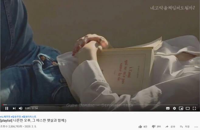 구독자 28만명의 유튜버 '네고막을책임져도될까'의 플레이리스트 영상. 유튜브 캡처