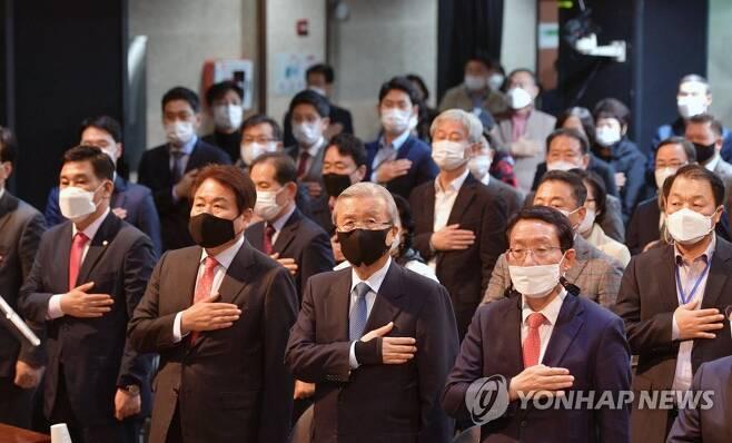 서울시장 시민후보 찾기 공청회 참석한 김종인 비대위원장 [연합뉴스 자료사진]