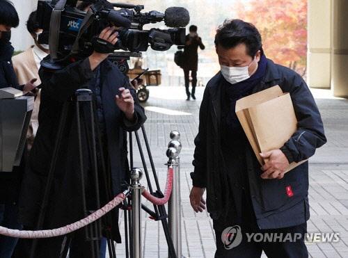 국민참여재판 출석하는 이상호 기자. <연합뉴스>
