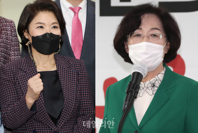 내년 4·7 서울시장 보궐선거 출마 의사를 밝힌 조은희 서초구청장(왼쪽)과 박춘희 전 송파구청장 ⓒ데일리안
