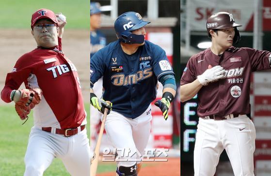 올시즌을 끝으로 MLB 진출에 도전하는 양현종·나성범·김하성. IS포토