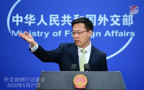 자오리젠 중국 외교부 대변인 [중국 외교부 자료사진]