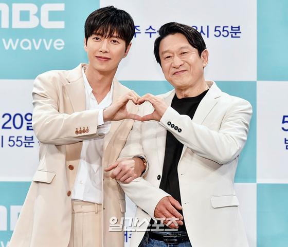 배우 박해진과 김응수
