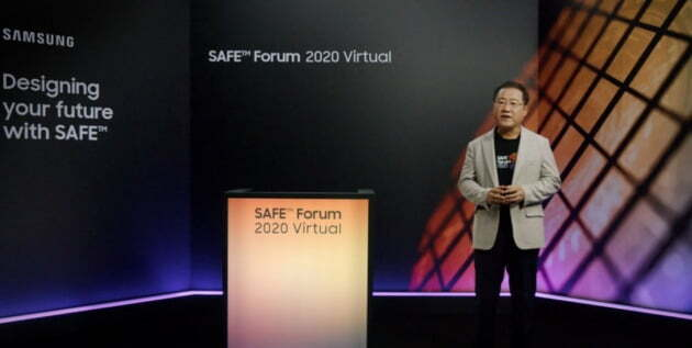 2020 SAFE 포럼에서 발언 중인 박재홍 삼성전자 파운드리사업부 부사장.