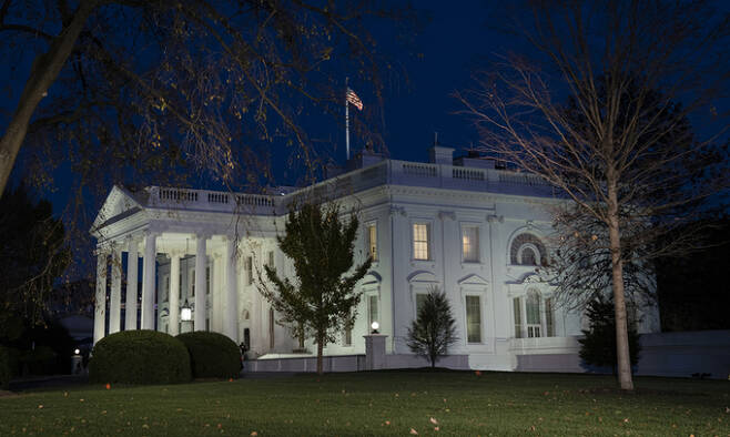 미 백악관 전경. 워싱턴=AP연합뉴스