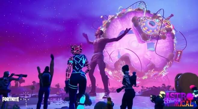 미국 래퍼 트래비스 스콧이 게임 '포트나이트'에서 VR 콘서트를 연 모습 [포트나이트 공식 유튜브 캡처. 재판매 및 DB 금지]