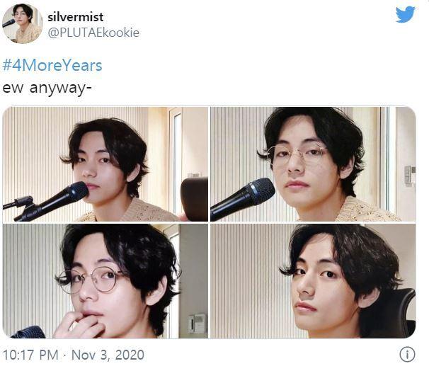 지난 3일(현지시간) 한 BTS 팬이 올린 #4년더 해시태그 게시물/사진=트위터