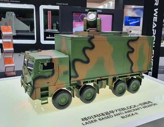 레이저 대공무기 블록-2는 2030년 이전까지 개발될 기동형 즉 이동이 가능한 레이저 무기로 출력은 30킬로와트로 알려져 있다. 사진=김대영