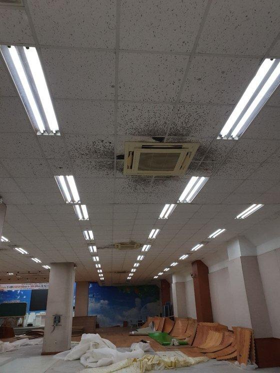 신천지 대구교회 내부 모습. [독자제공]