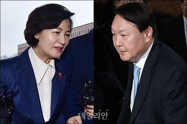 추미애 법무부 장관과 윤석열 검찰총장 ⓒ데일리안 홍금표 기자