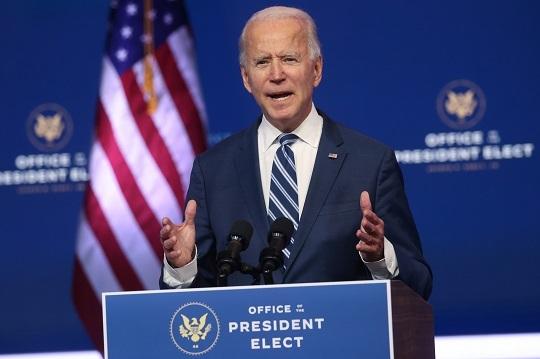 조 바이든 미국 대통령 당선인. 로이터연합뉴스