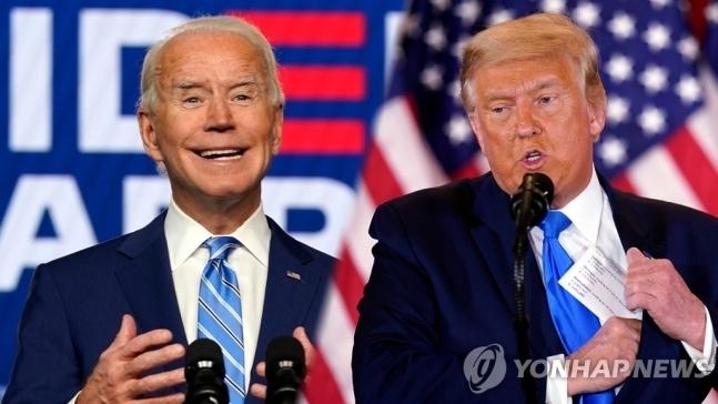 ▲조 바이든 미국 대통령 당선인(왼쪽)과 도날드 트럼프 대통령. 연합뉴스