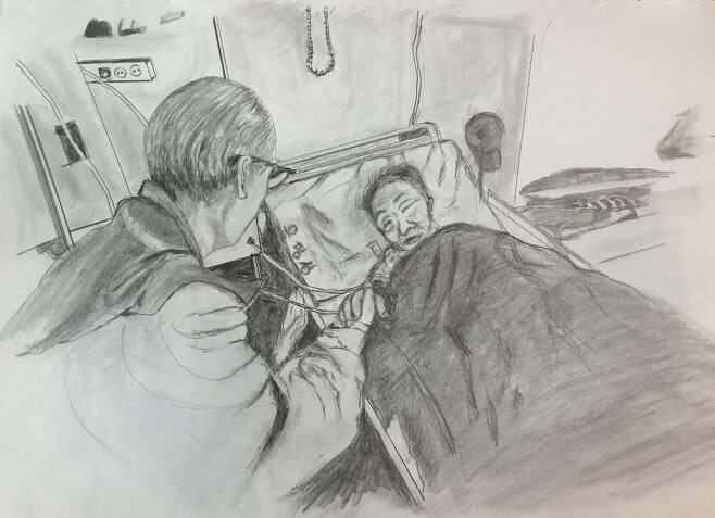 '엄마의 마지막 말들' 저자 박희병 교수의 아버지가 그린 어머니의 모습들./창비