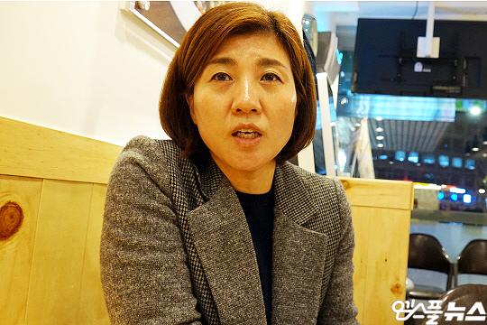한국 여자 배구 전설 장윤희 해설위원(사진=엠스플뉴스 이근승 기자)