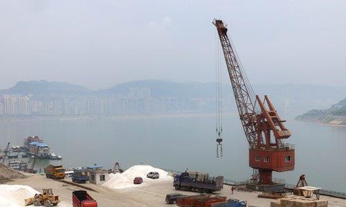 중국 항구의 희토류 [사진 글로벌타임스. 재판매 및 DB 금지]