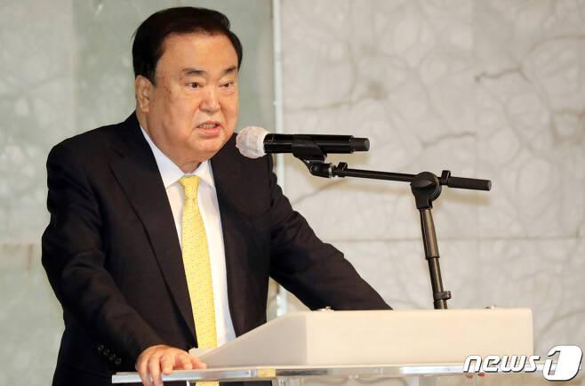 문희상 전 국회의장. 2020.6.15/뉴스1 © News1 김명섭 기자