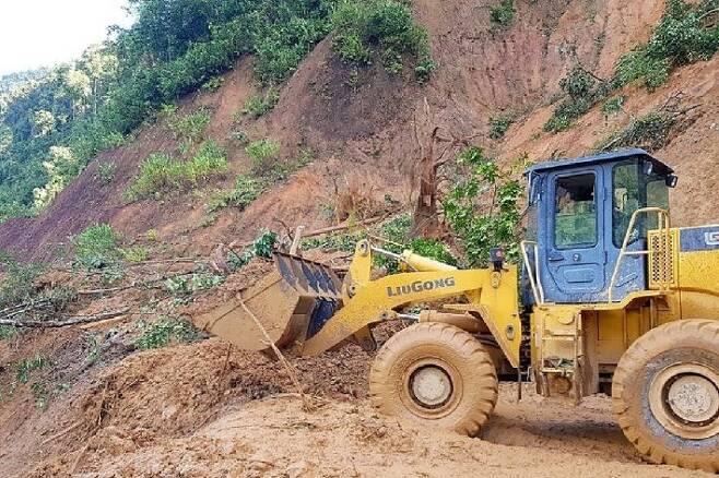 태풍으로 산사태 발생한 베트남 중부. (사진=연합뉴스/자료사진)