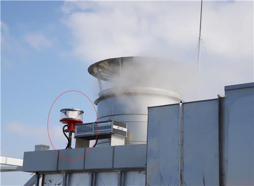 제주 드림타워 복합리조트 옥상에 설치된 항공 장애 표시등 [독자 제공. 재판매 및 DB 금지]