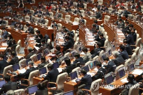 새해 예산안 처리 [연합뉴스 자료사진]