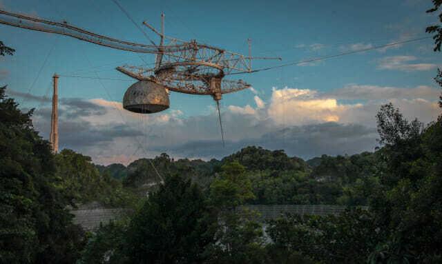 푸에르토리코의 아레시보 전파망원경 (사진=NSF 트위터)