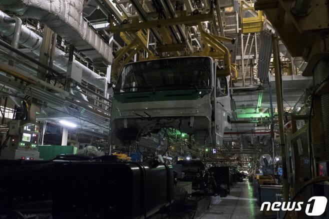 전북 완주군 소재 현대자동차 전주공장 내부 자료 사진. /뉴스1