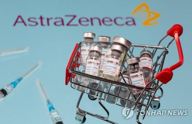 정부가 도입 결정한 아스타라제네카 '코로나19' 백신 (서울=연합뉴스) 정부가 글로벌 제약사와 다국가 연합체를 통해 신종 코로나바이러스 감염증(코로나19) 예방 백신 4천400만 명분을 사실상 확보했다.      우리 정부와 선구매에 합의한 제약사는 영국의 아스트라제네카, 미국의 화이자·존슨앤드존슨-얀센·모더나 등 4개 사다.      4천400만 명분은 우리나라 인구 88%가 접종할 수 있는 분량으로, 백신이 내년 초에 도입되더라도 실제 접종은 노인·의료인 등 우선 대상자를 시작으로 내년 하반기에나 시작될 것으로 전망된다.      사진은 정부가 2천만 회분을 구매하게 될 글로벌 제약사 아스타라제네카의 코로나19 백신의 일러스트. 2020.12.8 [로이터 자료사진] hkmpooh@yna.co.kr