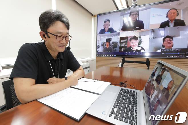 박윤영 KT 기업부문 사장. (KT 제공) 2020.9.13/뉴스1 © News1 김진환 기자