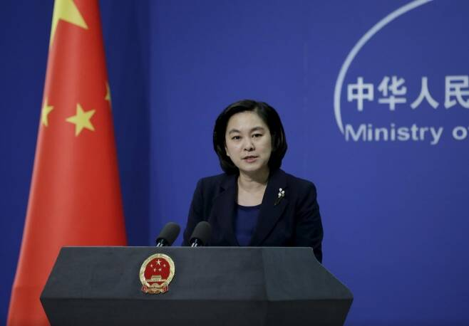 화춘잉 중국 외교부 대변인. /사진=로이터통신.