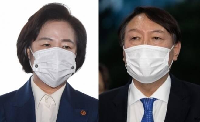 추미애 법무부 장관 vs 윤석열 검찰총장 - 서울신문DB
