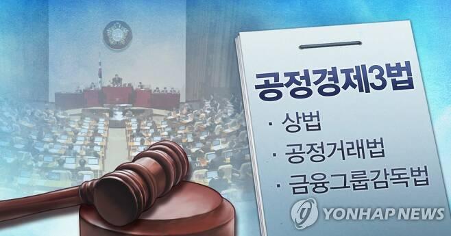 국회 공정경제3법 처리 (PG) [장현경 제작] 사진합성·일러스트