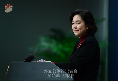 화춘잉 중국 외교부 대변인 [중국 외교부 자료사진]