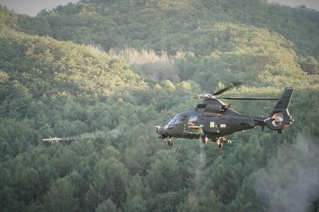 LAH 공대지마사일 시험. (KAI 제공)© 뉴스1