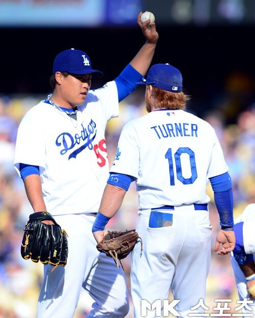 저스틴 터너는 다저스에서 전성기를 보냈고, 대부분의 시간을 류현진과 함께했다. 사진= MK스포츠 DB