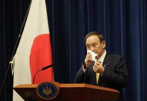 스가 요시히데 일본 총리/사진=AFP