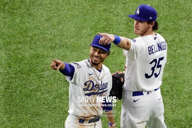 ▲ 다저스의 핵심 타자들. 무키 베츠(왼쪽)와 코디 벨린저