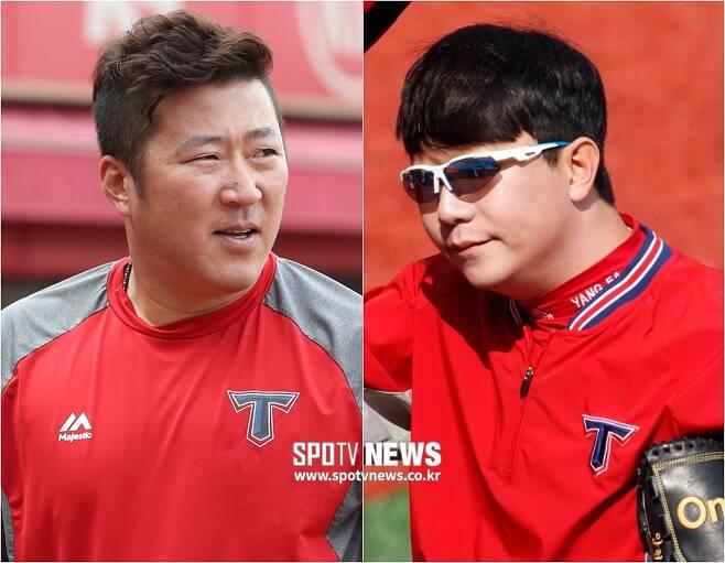 ▲ FA 신분인 최형우(왼쪽)와 양현종. ⓒ SPOTV NEWS