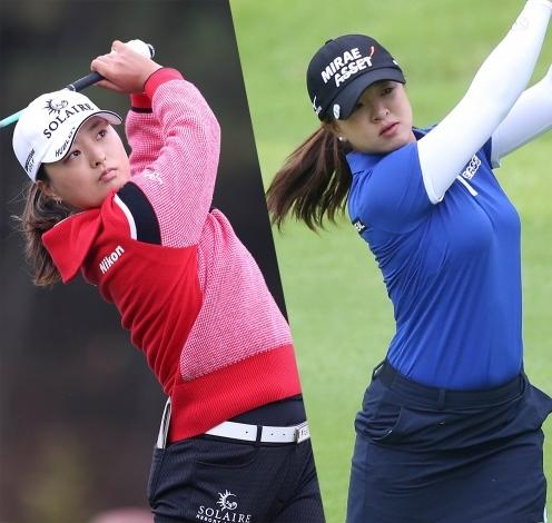 2020년 미국여자프로골프(LPGA) 투어 메이저 제75회 US여자오픈 골프대회에 출전한 고진영, 김세영 프로. 사진제공=KLPGA