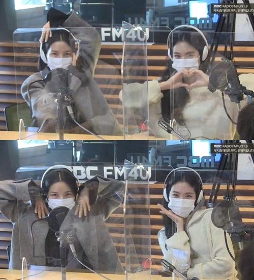 솔라 손나은 사진=MBC FM4U '두시의 데이트 뮤지·안영미입니다' 보이는 라디오 캡쳐