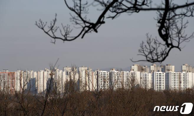 17일 오후 경기도 파주 운정신도시 일대 아파트 단지. 2020.12.17/뉴스1 © News1 이승배 기자