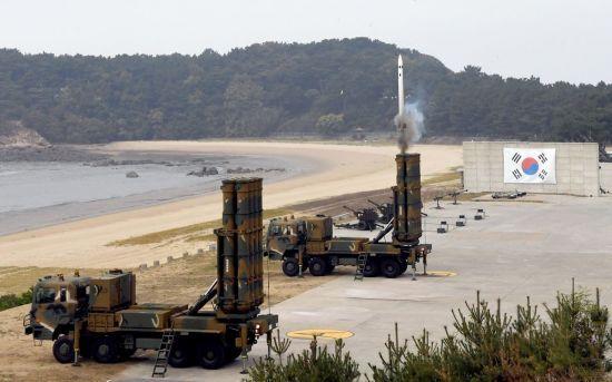 공군 방공유도탄사격대회 천궁 패트리어트 (출처 : 국방홍보원)