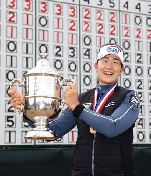 2020년 미국여자프로골프(LPGA) 투어 메이저 골프대회 제75회 US여자오픈에서 우승한 김아림 프로. 사진제공=와우매니지먼트그룹