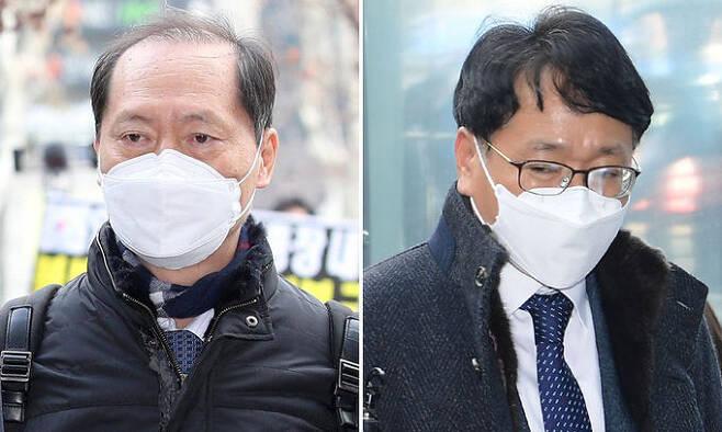 윤석열 총장 측 이완규 변호사(왼쪽), 법무부 측 이옥형 변호사