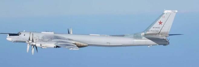 러시아 Tu-95 폭격기 [일본 통합막료감부 홈피 캡처.재판매 및 DB 금지]