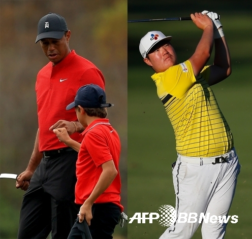 타이거 우즈와 아들 찰리 우즈. 미국프로골프(PGA) 투어에서 활약하는 임성재 프로. 사진제공=ⓒAFPBBNews = News1