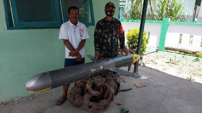 술라웨시섬 남부 해상에서 발견된 수중 드론(무인잠수정) [트위터 @Jatosint·재판매 및 DB 금지]