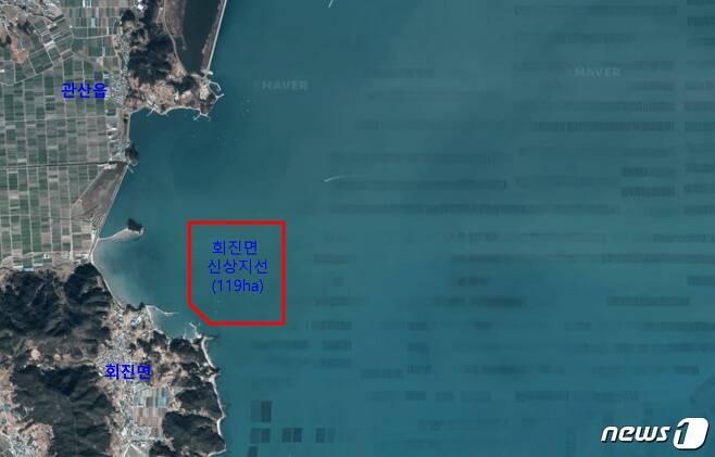 전남 장흥군 회진면 신상해역 위치(전남도 제공) 2020.1.10 /© 뉴스1